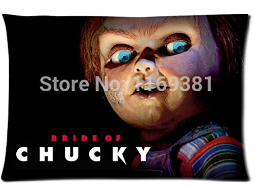 Space No. 1 Chucky Doll Custom Best Modernative Cool Skull Throw Pillow Cases Standard For Size 40x60 cm (Two sides)U2-57