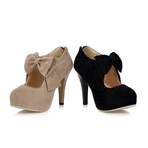 Fashion Vintage Womens Small Bowtie Platform Pumps Ladies Sexy High Heeled Shoes, Black, 7 B(M) US