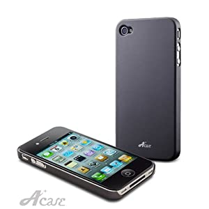 Acase(TM) Superleggera Fighting knight fit case for iPhone 4 with 2 Screen Protector (GunMetal)