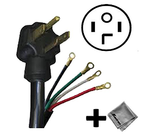 Replacement Cord Cable for Whirlpool - Cabrio 8.8 Cu. Ft. 24-Cycle Steam Electric Dryer (WED8000DW) - 4 ft (Cabrio Electric Steam Dryer compare prices)