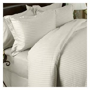 300 Thread Count Stripes Ivory Olympic Queen Size Sheet Set front-1042052