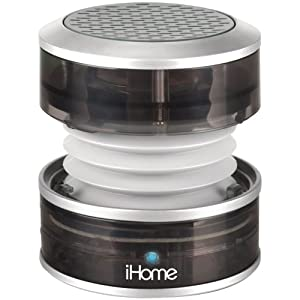 iHome iHM60GY 3.5mm Aux Portable Speaker (Gray Translucent) images