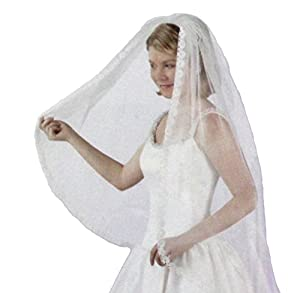 Wilton 120-1092 Cambridge Lace Edge Wedding Veil