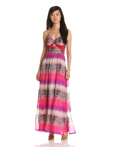 Charlie Jade Women's Maxi Dress, Magenta/Purple, X-Small