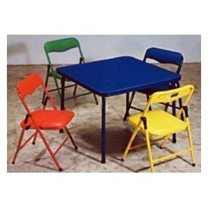 Amazon.com: Children's Folding Table & Folding Chairs Furniture ...
