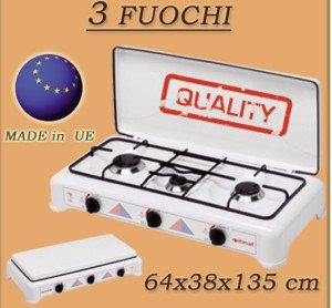 Cucina a Gas Prezzo: ITIMAT GAS 3 FUOCHI FORNELLO CAMPEGGIO GPL ...