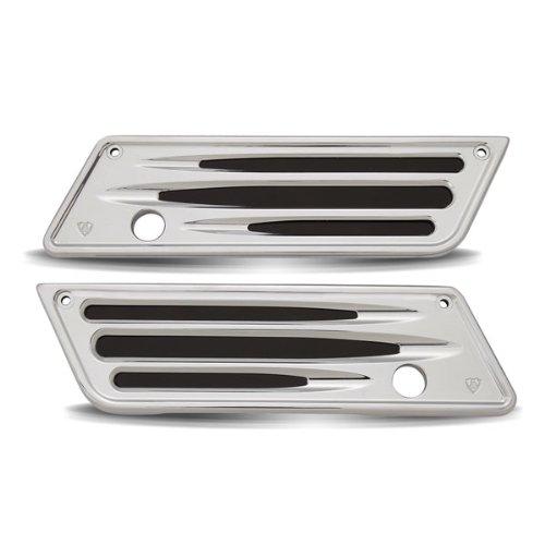 Arlen Ness 03-529 Deep Cut Chrome Saddlebag Latch Covers for Harley 93-13 FLT (03-529)