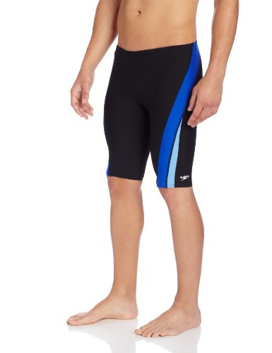 speedo-mens-endurance-launch-splice-jammer-swimsuit-black-blue-30
