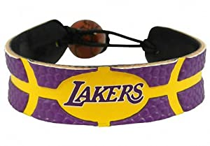 Los Angeles Lakers Leather Team Bracelet by GameWear