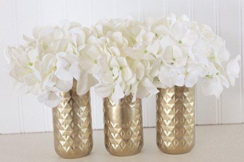 Set of Gold Mason Jars| Tall Jelly Jar Mason Jar Set|Hollywood Glam Jars|Bridal Centerpieces (12 Ounce Tall Canning Jars compare prices)