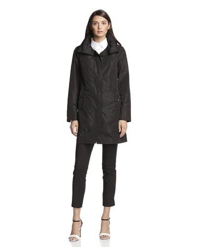London Fog Women's Single-Breasted Raincoat