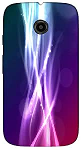 Timpax protective Armor Hard Bumper Back Case Cover. Multicolor printed on 3 Dimensional case with latest & finest graphic design art. Compatible with Motorola Moto -E-2 (2nd Gen )Design No : TDZ-26474