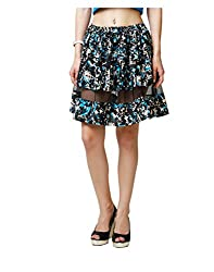 Yepme Arianny Sheer Mini Skirt - Black & Blue -- YPMSKRT5083_XL