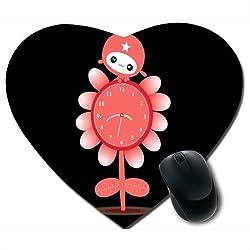 Awwsme Flower Shape In Clock Heart Mousepad