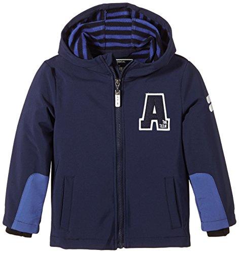 Tom Tailor Kids Jungen Jacke softshell jacket stripe inside/502, Gr. 134 (Herstellergröße: 128/134), Blau (true dark blue 6811)