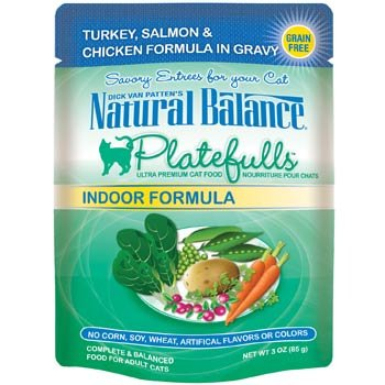 Natural Balance Platefulls Turkey & Salmon Indoor Adult Cat