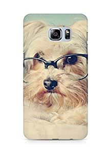 Amez designer printed 3d premium high quality back case cover for Samsung Galaxy S6 Edge Plus (cute dog )