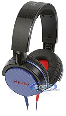 Philips SHL3100BL Blue Dynamic Solid Bass 1500mW Foldable DJ Stereo Headphones