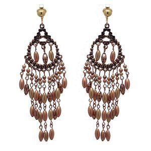 Carnival Copper Clip On Earrings