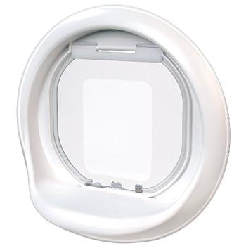 pas cher zolux chati re catwalk 4 positions porte vitr e couleur blanc acheter en. Black Bedroom Furniture Sets. Home Design Ideas