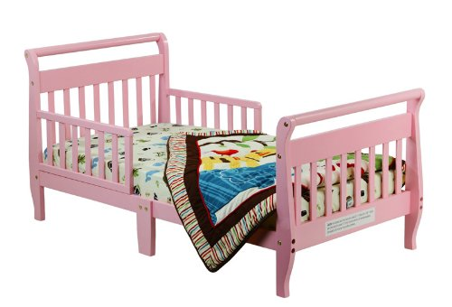 Dream On Me Classic Sleigh Toddler Bed - Blush Pink