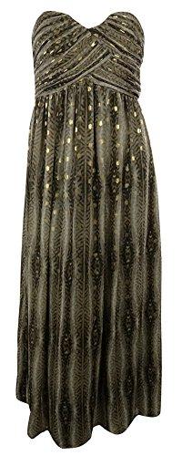 Calvin Klein Women'S Full Length Sweetheart Animal Print Dress (14, Tortoise)