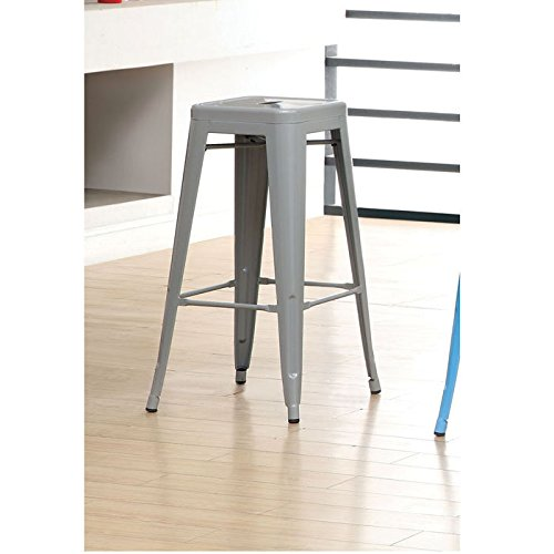 Simplistic Uptown Dolly Splayed Steel Stool front-988025