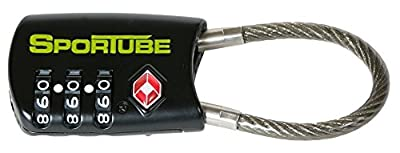 Sportube TSA Combination Padlock Travel Accessory by Sportube