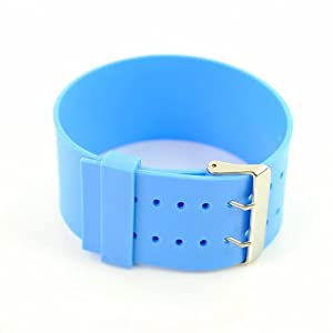 P&o Fashion Man Woman Silicone Replaceable Wrist Watch Band Light Blue
