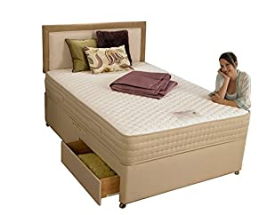 Deluxe Elegance Supreme Pocket Sprung Memory Foam Divan Bed, Single, Two Drawer       Customer reviews and more information