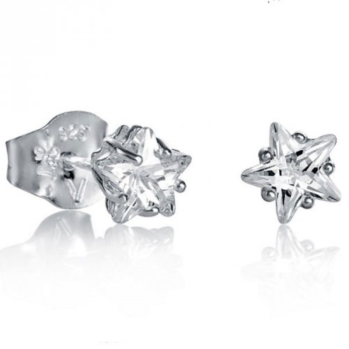 Pulsante orecchini d'argento Viceroy zirconi 21008E000-30 donne
