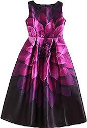 hk fashion satin fabrics digital print pink flowers western dress
