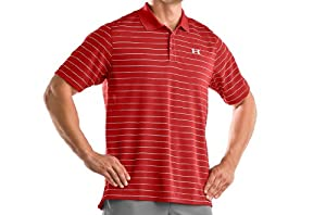 Under Armour Mens UA Striped Shortsleeve Polo Shirt by Under Armour