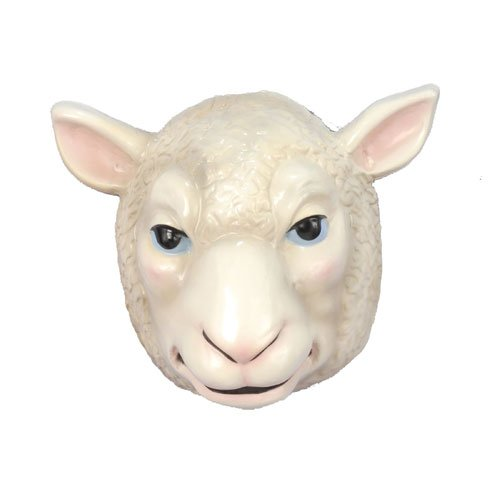 Sheep Mask Child-White / One Size