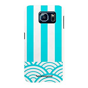 HomeSoGood Lines With Curves Pattern 3D Mobile Case For Samsung S6 ( Back Cover)
