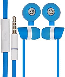 JKOBI In Ear Bud EARPHONES HANDSFREE HEADSET with Mic for Motorola Moto E (1st Gen) with 3.5mm Jack-Skyblue