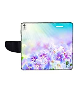 KolorEdge Printed Flip Cover For Gionee Elife S5.5 Multicolor - (50KeMLogo09264GioneeS5.5)