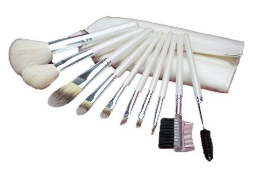コスメ24 高品質 化粧ブラシセット メイクブラシ セット 白い専用収納ケース付き 10本セット