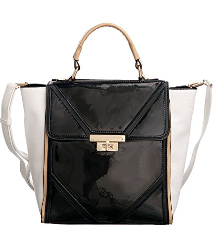 melie-bianco-brenda-black-patent-gloss-crossbody-convt-tote-bag