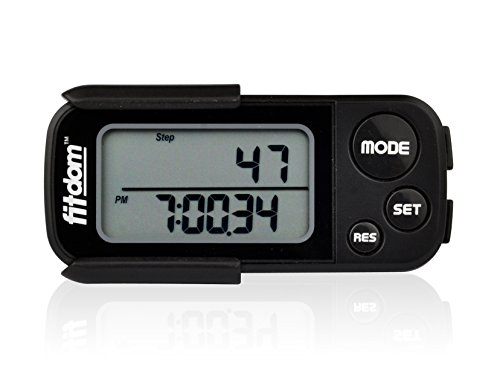 Pedometer By Fitdom For Walking Running Count Steps Track Calories Burned Miles Traveled And
