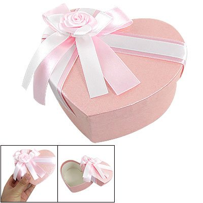 Rosallini Pink Heart Shape Jewelry Watch Package Paper Gift Box