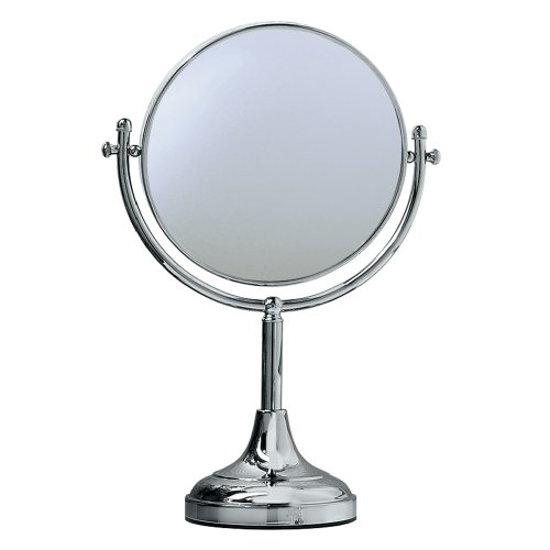 Gatco 1440C 15-Inch By 8-Inch Magnified Table Mirror, Chrome