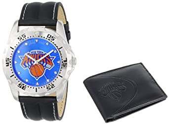 Game Time Unisex NBA-WWS-NY Wallet and New York Knicks NBA Watch Set by Game Time