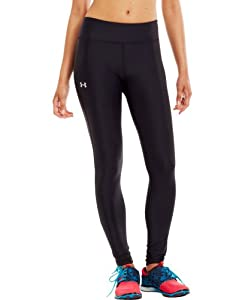 Under Armour Women's UA Authentic HeatGear® Tights  	Black/Silver Small