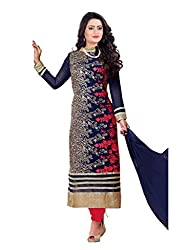 Krishna Present All New wedding Wear Embroidered Blue Color Dress Meterial.