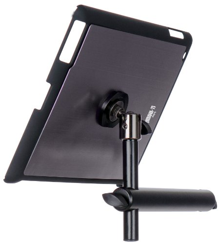 On Stage TCM9160 Tablet Mount with Snap-On Cover for iPad 2/3/4, Gun Metal