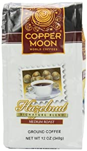 Copper Moon Hazelnut Coffee, Medium Roast, Ground, 12-Ounce Bags (Pack of 3)