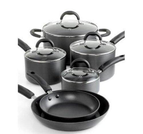 Martha Stewart Hard - Anodized Nonstick 10pc Cookware Set
