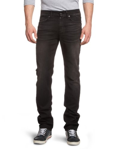 7 For All Mankind Men's SMSJ080UK Slim and Skinny Jeans Black Dusk Clouds 32/34