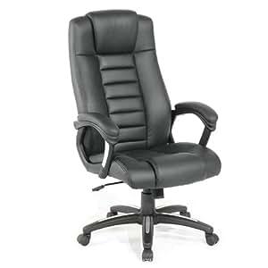 TecTake De Luxe Chaise fauteuil siège de bureau hauteur réglable simili cuir